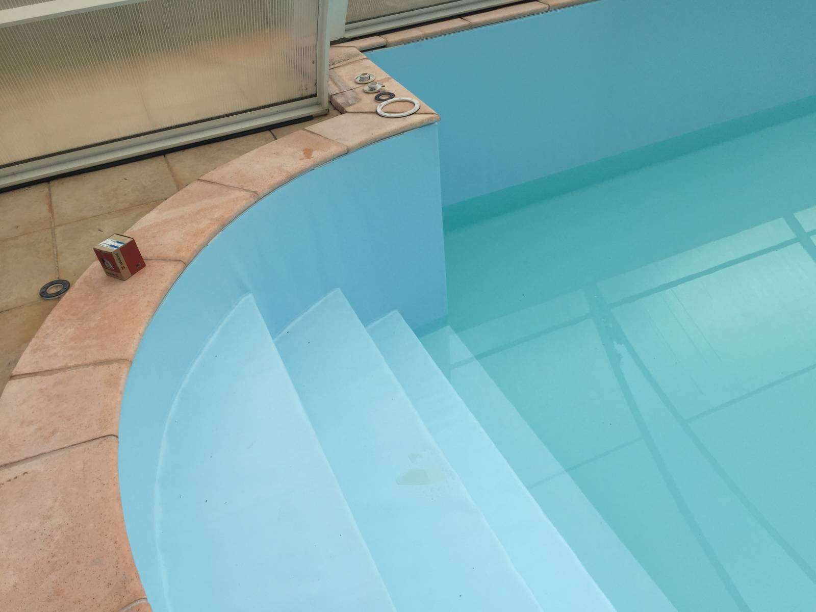 Remplacement de liner arm sur biscarrosse r gion for Revetement piscine pvc arme